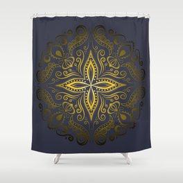 Mandala golden 2 Shower Curtain