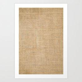 BURLAP Art Print
