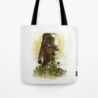 sunflower Tote Bags featuring Sunflower Field by dan elijah g. fajardo