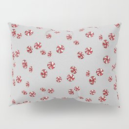 Peppermint Candy in Grey Pillow Sham