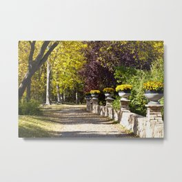 Assiniboine Park Fall Path Metal Print
