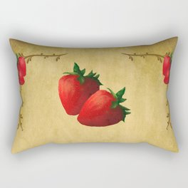 Strawberries Rectangular Pillow