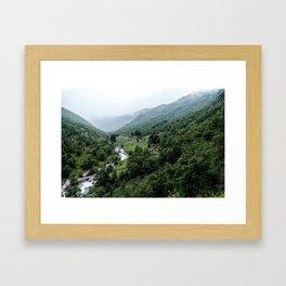 Mountain Homes Framed Art Print