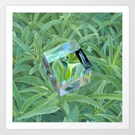 Cube/Earth Art Print