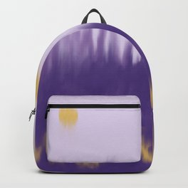 Purple and Gold Abstract Backpack