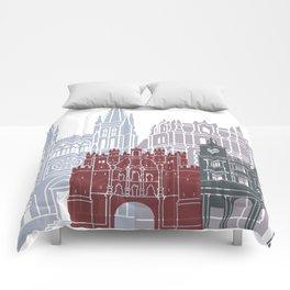 Burgos skyline poster Comforters