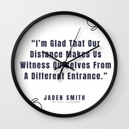 34  |  Jaden Smith Quotes | 190904 Wall Clock