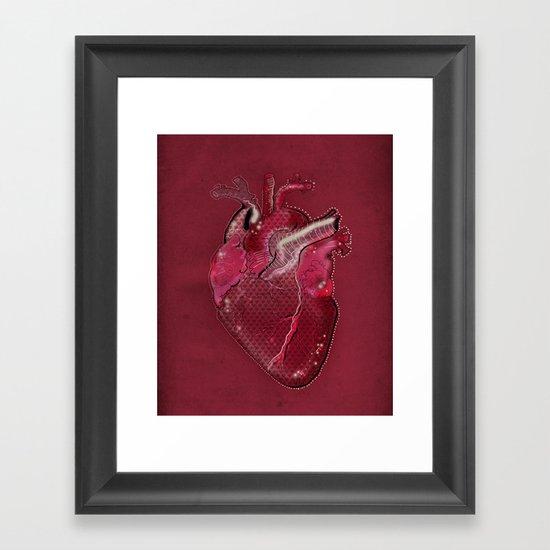 Digital Heart Framed Art Print