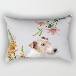 My baby sent me flowers Rectangular Pillow