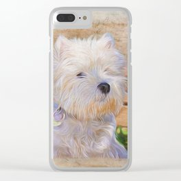 Just One Look - Dog Art Clear iPhone Case