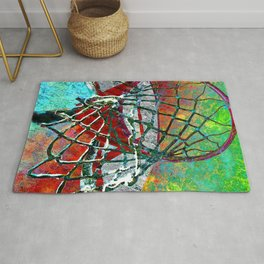Basketball art print 174 Rug