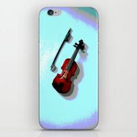 violin iPhone & iPod Skins featuring Violin by Vitta