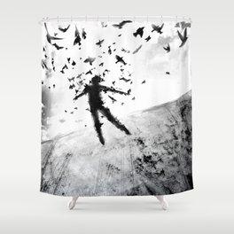 Birds in the head Shower Curtain