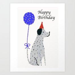 Dalmatian Dog Birthday Art Print