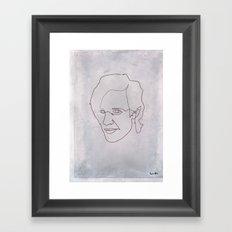 One line doctor Who (Matt Smith) Framed Art Print