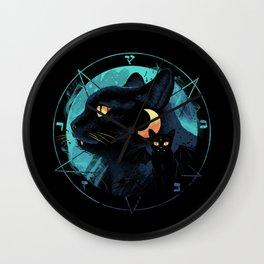 Puss the Devil Cat Wall Clock