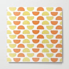 Orange Slices Pattern Metal Print