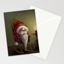 New edit: Little Santa in his rocking chair Stationery Cards