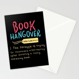 Book Hangover Stationery Cards