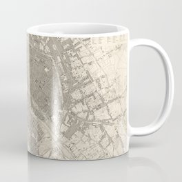 Eastern division of Paris containing the Quartiers (1834) by W B Clarke and James Shury Coffee Mug