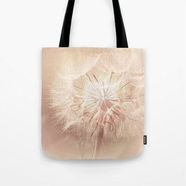Pink Dandelion Flower - Floral Nature Photography Art and Accessories Tote Bag