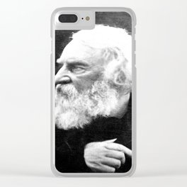 Julia Margaret Cameron - Portrait of Longfellow Clear iPhone Case