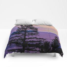 VanCity Sights In Purple Comforters