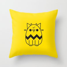 Paws the Cat - Charlie Brown Throw Pillow