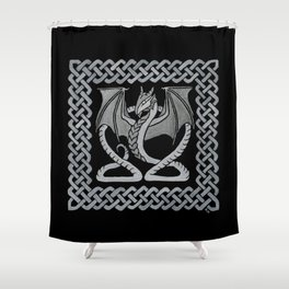 White Dragon Shower Curtain