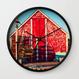 End of Day at Blue Rocks Wall Clock