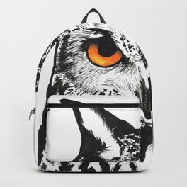 Fire-Eyed Owl Backpack