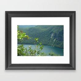 Above Willoughby Lake Framed Art Print
