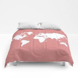 Pink Elegant World Comforters