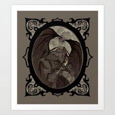 Mothman's Teatime Art Print