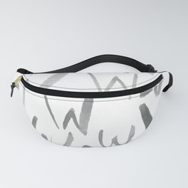 Watercolor W's - Grey Gray Fanny Pack