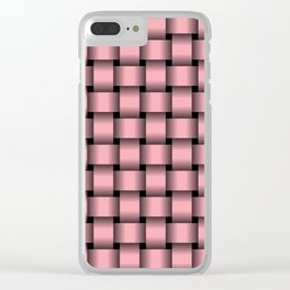 Pink Weave Clear iPhone Case
