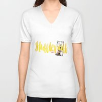 hufflepuff V-neck T-shirts featuring Hufflepuff The Loyal by AliceInWonderbookland