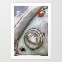vw Art Prints featuring VW Beetle by David Turner