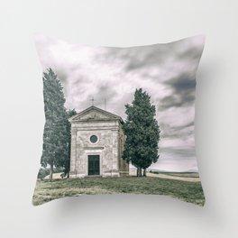 Cappella della Madonna di Vitaleta Throw Pillow