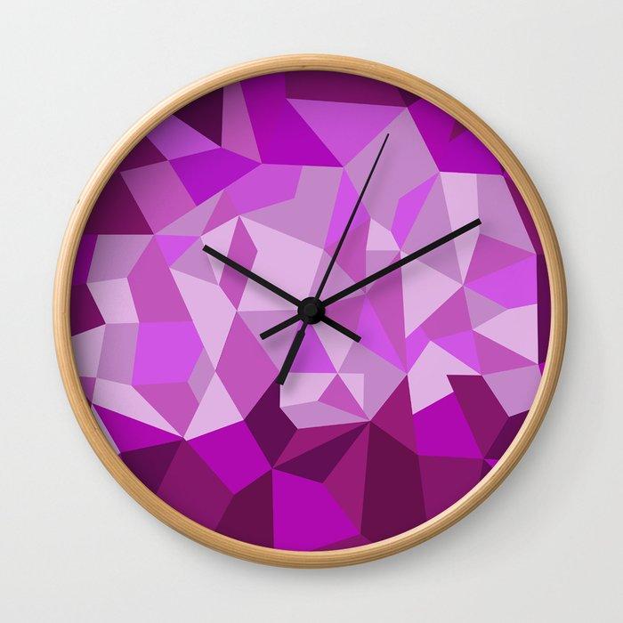 Pink Purple Diamond Illustration Wall Clock