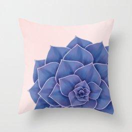 Big Echeveria Design Throw Pillow