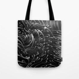 Sea Swirls, Black and White Tote Bag
