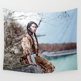Native Girl Wall Tapestry