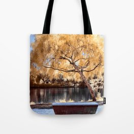 Autumn Colors Bench Tote Bag