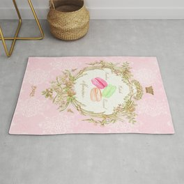 French Patisserie Macarons Rug