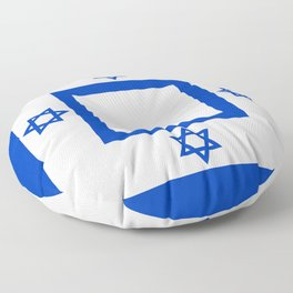 Flag of the State of Israel - High Quality Image Floor Pillow