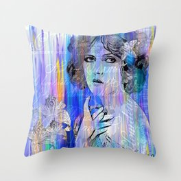 Clara Bow:  I'll See You In New York Throw Pillow