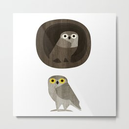 Two little owls Metal Print