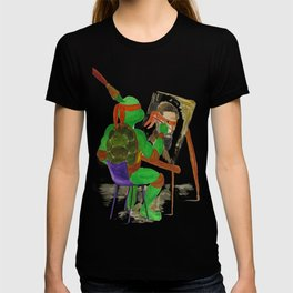 Michelangelo the ninja turtle painting Michelangelo the artist T-shirt