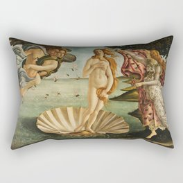 The Birth of Venus (Nascita di Venere) by Sandro Botticelli Rectangular Pillow